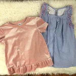3/$20 Bonnie Jean & Old Navy Blouses Girls Size 4T